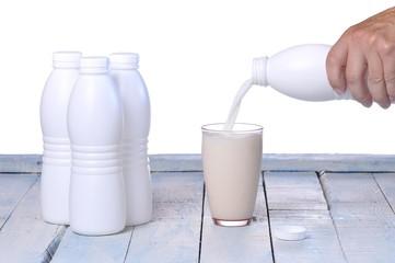 Glass of fresh milk..