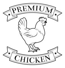 Premium chicken icon