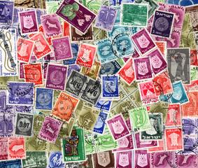 Background of Israeli postage stamps