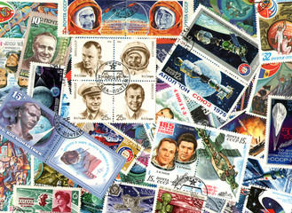 Space. Soviet postage stamps