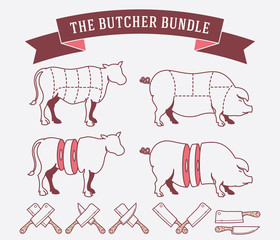 The butcher bundle colored