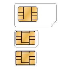 Micro-, Nano-, Sim-Karte - Vektor freigestellt