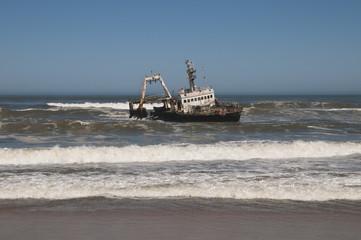 Schiffswrack, Skelettküste, Namibia, Afrika