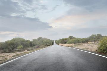 An infinite road