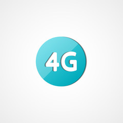 Four G latest wireless communication web icon