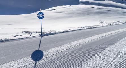 Easy ski slope