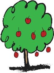 doodle apple tree