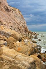 Coast near Hastings in East Sussex, UK.