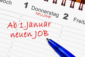 Ab 1. januar neuen job
