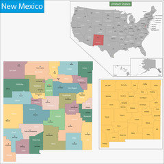 New Mexico map
