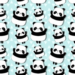 pattern with cute pandas