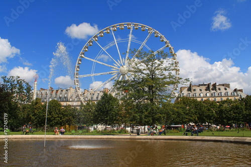Grande roue de paris au jardin des tuileries stock photo and royalty free images on fotolia for Plus grand jardin de paris