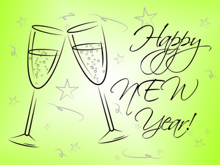 Happy New Year Represents Fun Festive And Celebrations