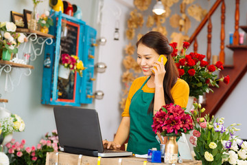 Flower delivery shop