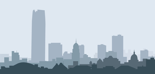 Oklahoma City Skyline-Vector