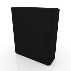 3d box dovetail option container blank template in isolated background with work paths, clipping paths included