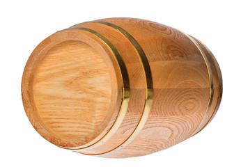 isolated single wood cask