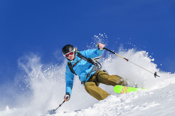 spektakulär skifahren