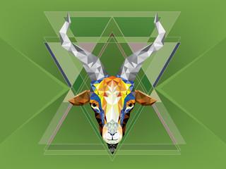 Geometric pattern goat. Vector illustration.