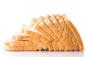 whole wheat bread on a white background