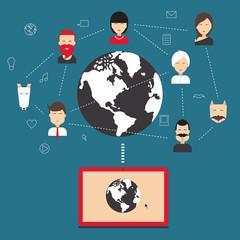 Social network, communication, communication.