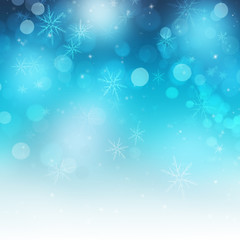 Shiny Festive Snowflakes and Sparkle Christmas Background