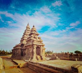 Shore temple - World  heritage site in  Mahabalipuram, India