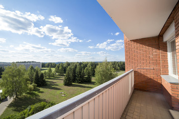 Balcony in apartment house