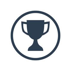 Reward flat icon  in circle