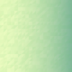 Digital green triangle pixel mosaic, abstract vector background