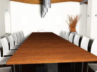Restaurant interior render and illustration