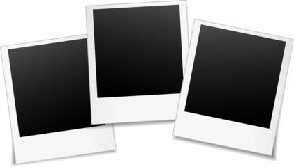 three blank photos