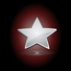 Silver Star Over a Dark Background