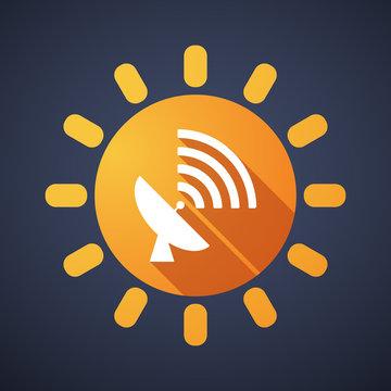 Sun icon with an antenna