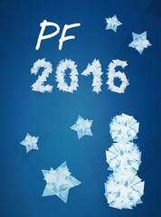 PF wish card 2016 vector illustration