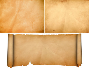 Medieval parchment set.