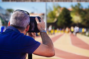 man take a picture
