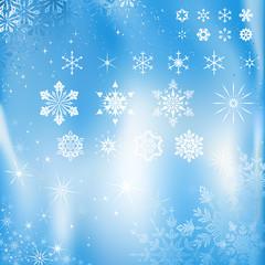Snowflakes and Stars Set