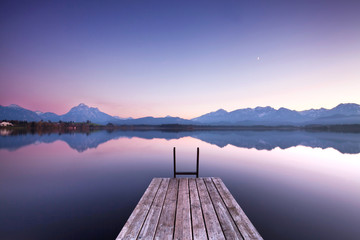 Photo sur Plexiglas Bestsellers Stille am See - Morgenlicht