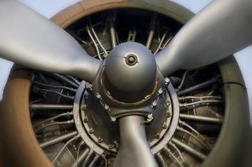 Propeller Engine Of An Old Aircraft