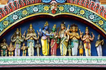hindu temple details Wall mural