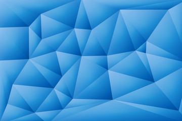 Abstract vector background of bright blue triangles