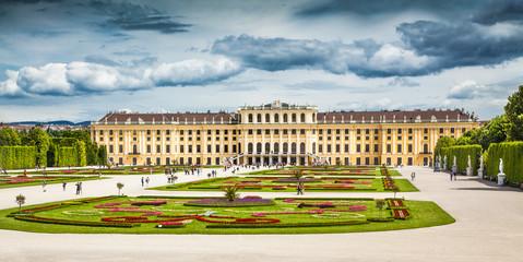 Schonbrunn Palace with gardens in Vienna, Austria