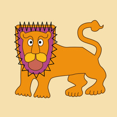 Abstract cartoon of lion