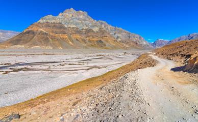 long road in spiti valley, landscape