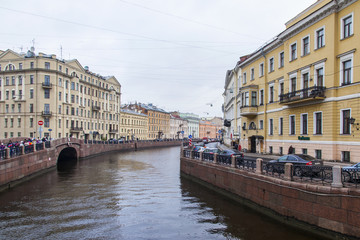 St. Petersburg, Russia. River Moika and its embankments