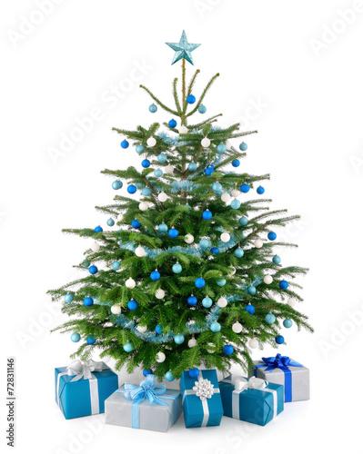 stilvoller weihnachtsbaum mit geschenken stockfotos und. Black Bedroom Furniture Sets. Home Design Ideas