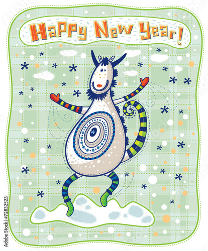 funny dancing goat happy new year