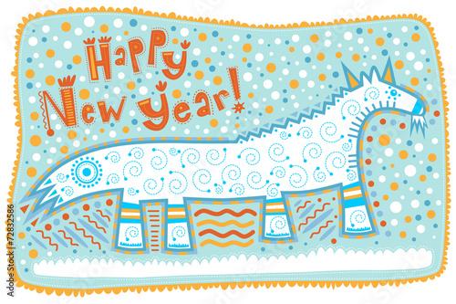 decorative goat happy new year