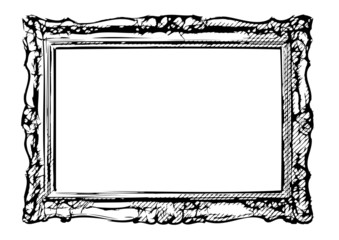 The antique vector frame